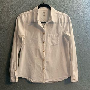 Madewell White Blouse Size Small -1B